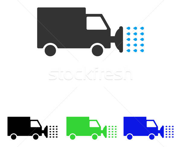 Street Washing Car Flat Vector Icon Stock photo © ahasoft