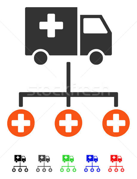 Medical Delivery Structure Flat Icon Stock photo © ahasoft