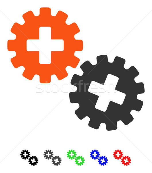 Medical Gears Flat Icon Stock photo © ahasoft