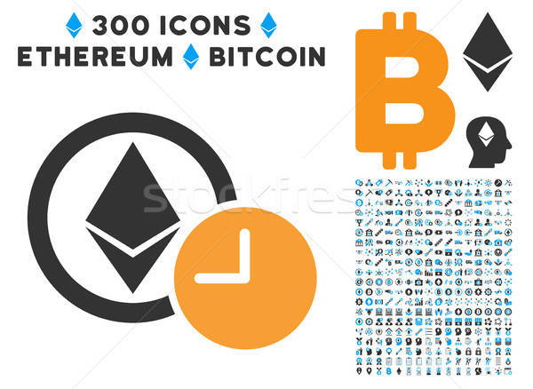 Ethereum Credit Clock Flat Icon with Clip Art Stock photo © ahasoft