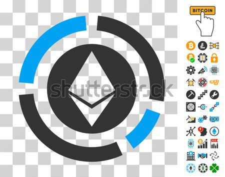 Ethereum Diagram Flat Icon with Set Stock photo © ahasoft