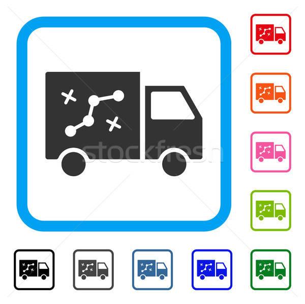 Route van icon grijs symbool Stockfoto © ahasoft