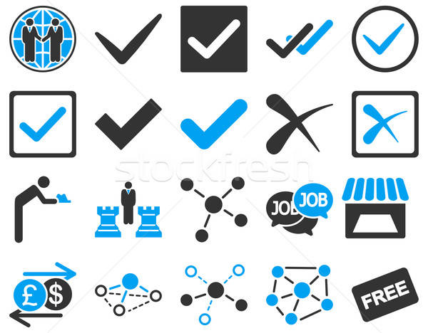 Agreement and trade links icon set.  Stock photo © ahasoft