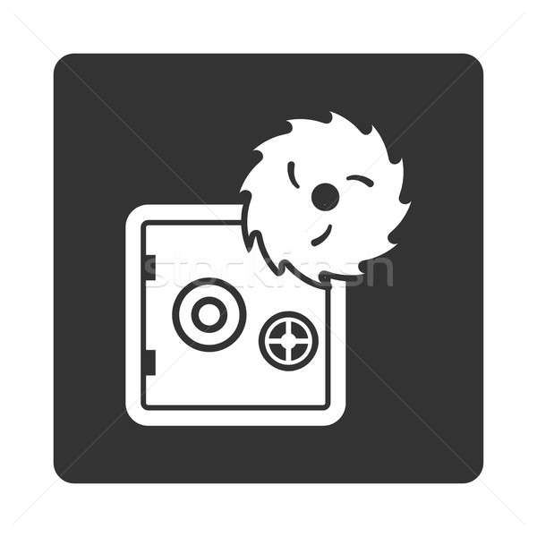 Hacking diefstal icon stijl witte grijs Stockfoto © ahasoft