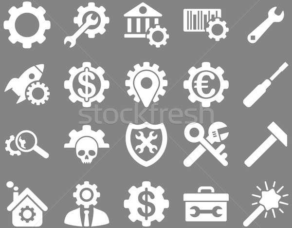 Stockfoto: Tools · iconen · ingesteld · stijl
