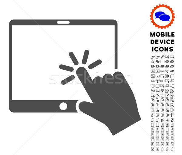 Clique móvel comprimido ícone empacotar Foto stock © ahasoft