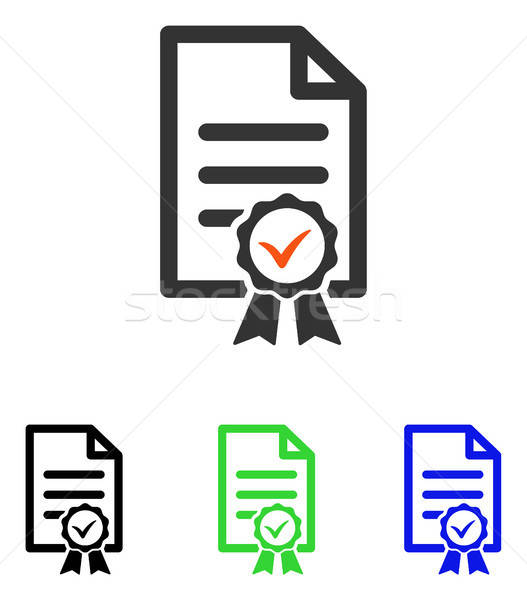 Certifié vecteur icône pictogramme illustration style Photo stock © ahasoft