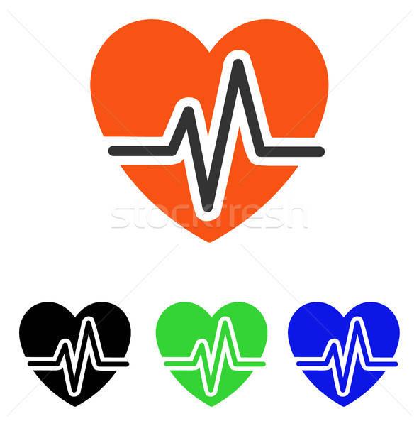 Heart Diagram Flat Vector Icon Stock photo © ahasoft