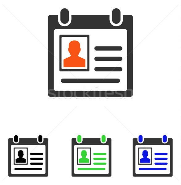 Personal Badge Flat Vector Icon Stock photo © ahasoft