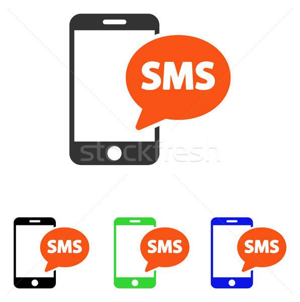 Telefono sms vettore icona pittogramma illustrazione Foto d'archivio © ahasoft