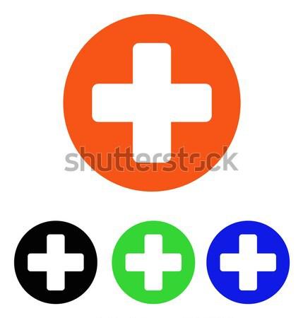 Rounded Cross Flat Vector Icon Stock photo © ahasoft