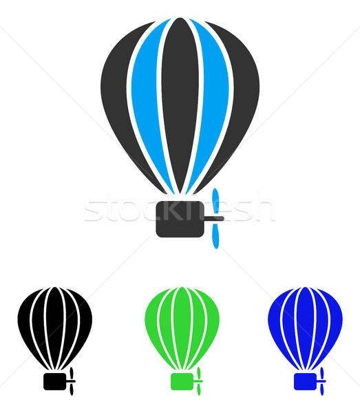 Aerostat Balloon Flat Vector Icon Stock photo © ahasoft