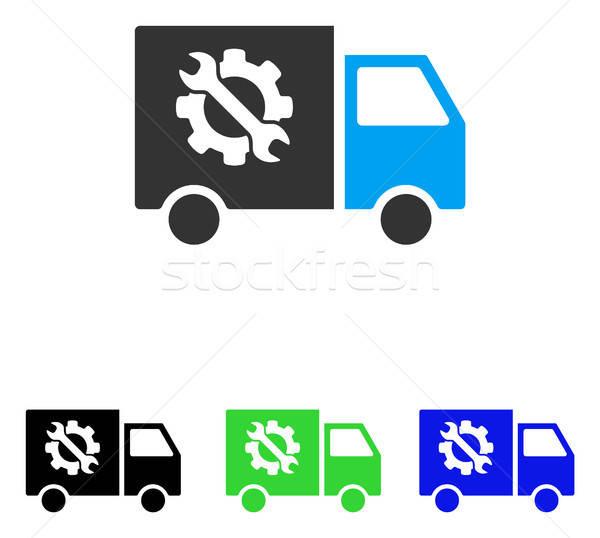 Equipment Truck Flat Vector Icon Stock photo © ahasoft