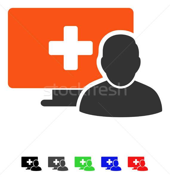 Сток-фото: онлайн · медицина · икона · вектора · пиктограммы