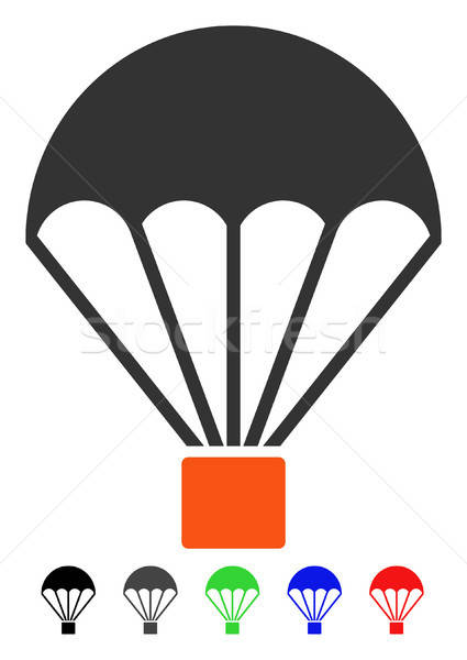 Parachute Flat Icon Stock photo © ahasoft