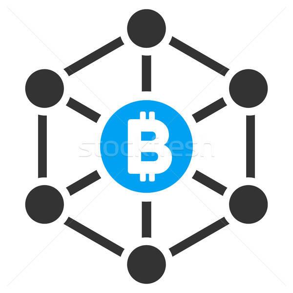 Bitcoin finanse ikon vektör resim yazı uygulama Stok fotoğraf © ahasoft