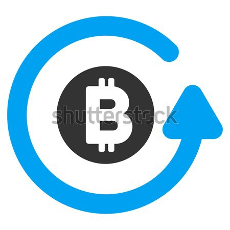 Bitcoin Seal Stamp Flat Icon Stock photo © ahasoft