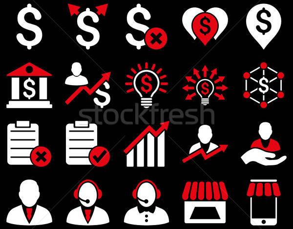 Comerţului afaceri bancă serviciu icoane Imagine de stoc © ahasoft