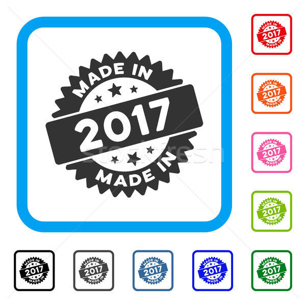 Made In 2017 Stamp Framed Icon Stock photo © ahasoft