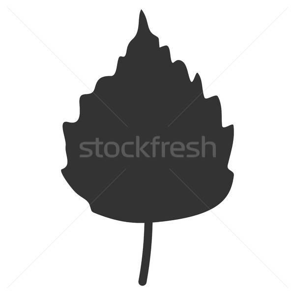 Nyírfa levél ikon vektor piktogram stílus Stock fotó © ahasoft