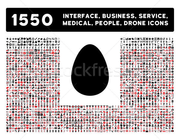 Egg Icon and More Interface, Business, Tools, People, Medical, Awards Flat Glyph Icons Stock photo © ahasoft