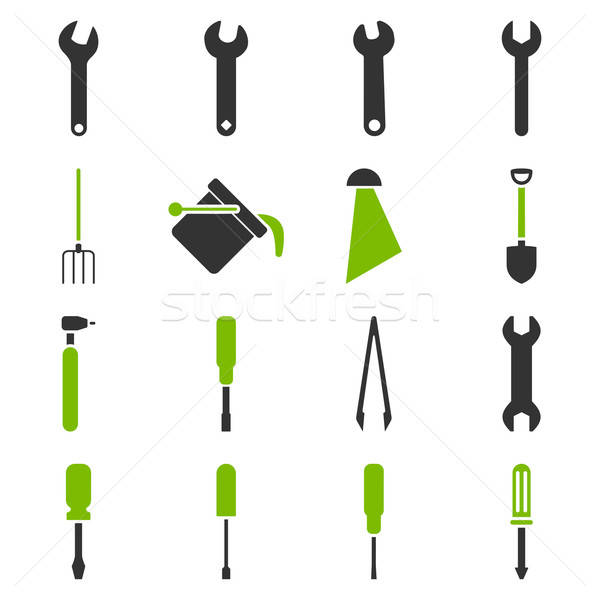 Stock photo: Instruments and tools icon set