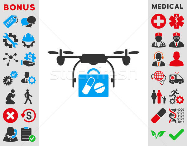 Medical Drone Shipment Icon Stock photo © ahasoft