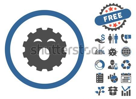 Stockfoto: Micro · parasiet · icon · vector · stijl · symbool