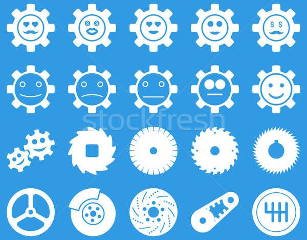 Stok fotoğraf: Araçları · gülümseme · dişliler · simgeler · ayarlamak · stil