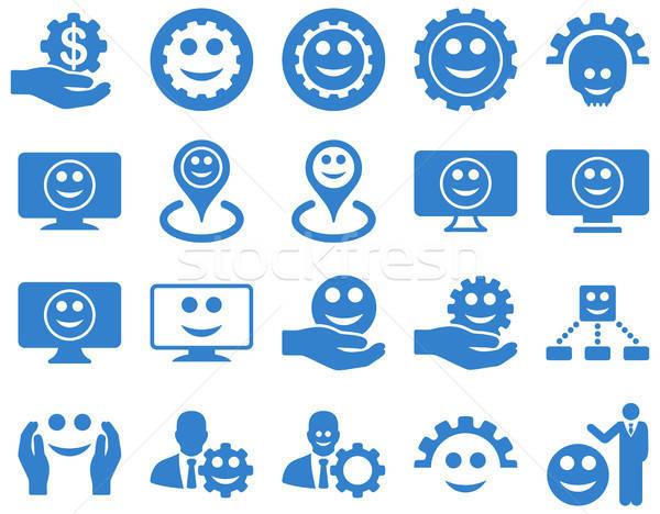 Araçları dişliler gülümsüyor harita simgeler vektör Stok fotoğraf © ahasoft