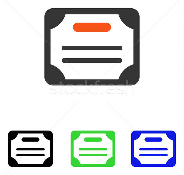 Certificate Flat Vector Icon Stock photo © ahasoft