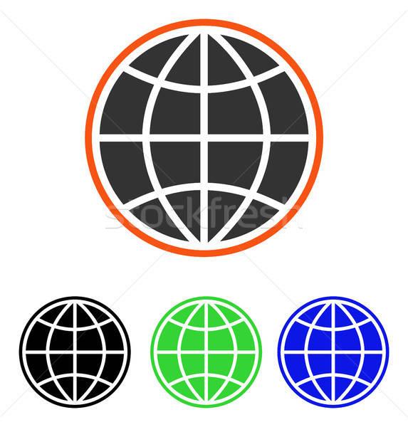 Dünya vektör ikon örnek stil ikonik Stok fotoğraf © ahasoft