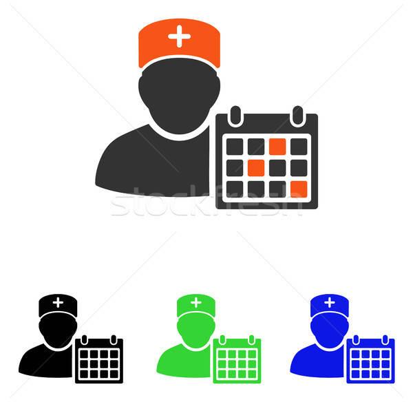 Orvos találkozó vektor ikon illusztráció stílus Stock fotó © ahasoft