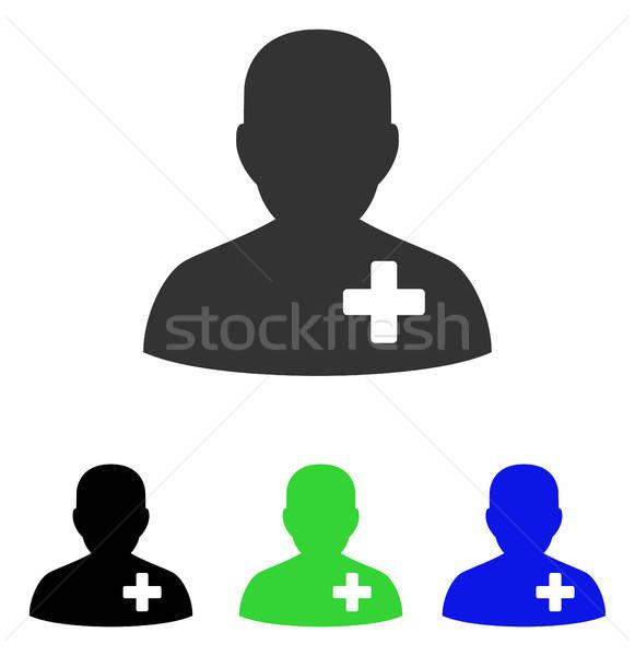 Médico voluntário vetor ícone ilustração estilo Foto stock © ahasoft