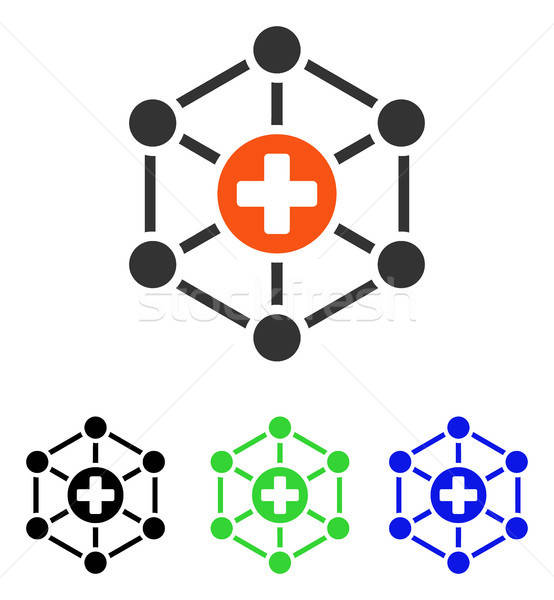 Medical Network Flat Vector Icon Stock photo © ahasoft