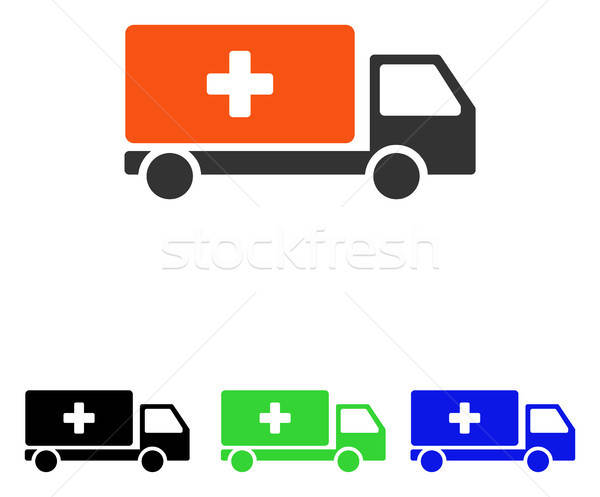 Medical Shipment Flat Vector Icon Stock photo © ahasoft