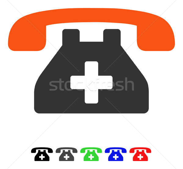Clinic Phone Flat Icon Stock photo © ahasoft