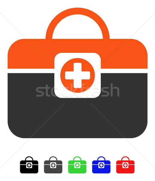 Medic przypadku ikona wektora kolorowy kolor Zdjęcia stock © ahasoft