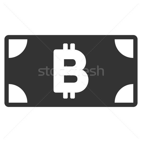 Bitcoin cash bankbiljet icon vector toepassing Stockfoto © ahasoft