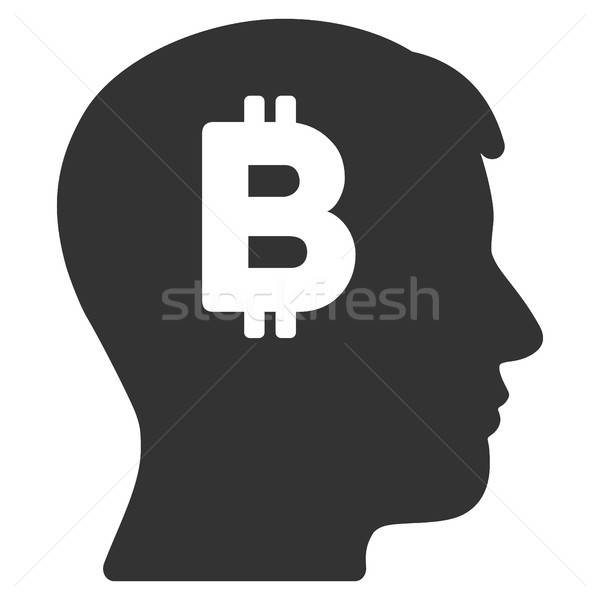Mental Bitcoin Flat Icon Stock photo © ahasoft