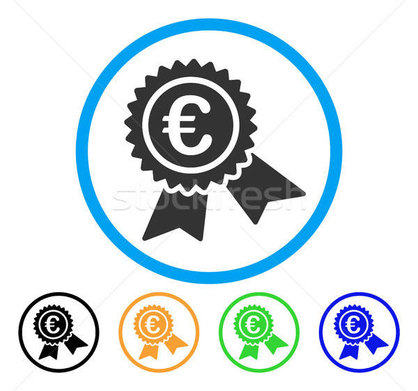 European Guarantee Seal Rounded Icon Stock photo © ahasoft