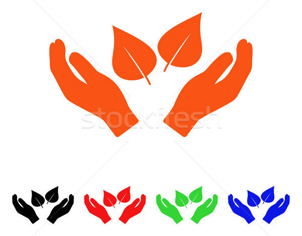Flora Care Hands Vector Icon Stock photo © ahasoft