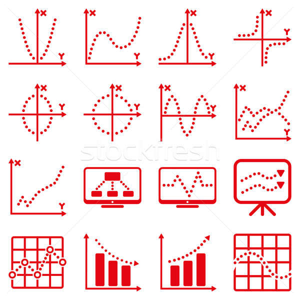 Dotted raster infographic business icons Stock photo © ahasoft