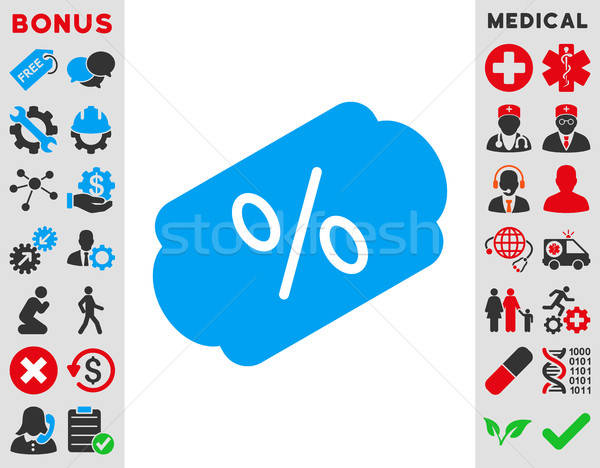 Descuento etiqueta icono vector estilo símbolo Foto stock © ahasoft