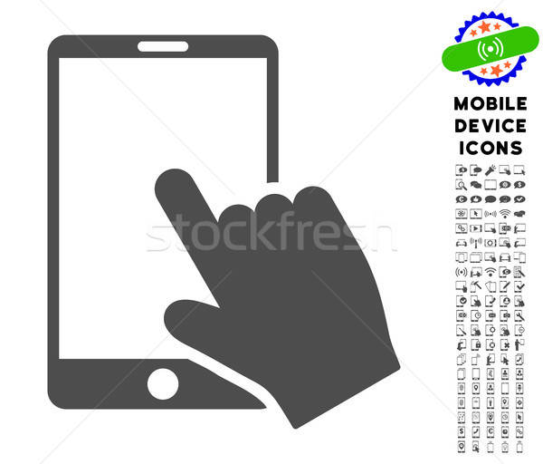 Touch Smartphone Icon with Set Stock photo © ahasoft