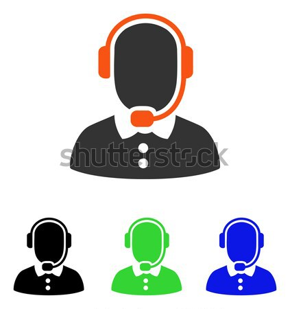 Call Center Operator Flat Vector Icon Stock photo © ahasoft