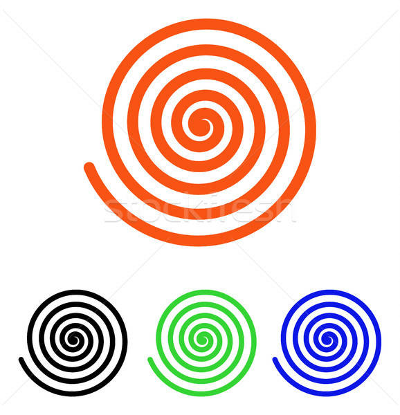 Stock photo: Hypnosis Flat Vector Icon