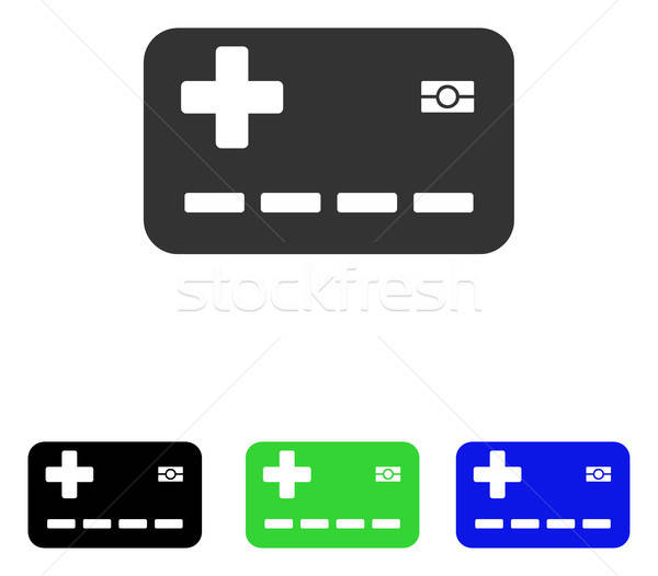 Medical Insurance Card Flat Vector Icon Stock photo © ahasoft