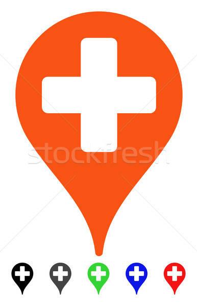 Medical Map Marker Flat Icon Stock photo © ahasoft