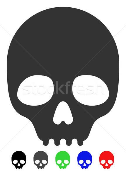 Crânio ícone vetor cor preto Foto stock © ahasoft